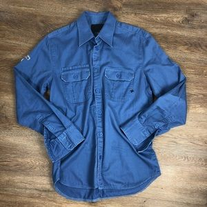 Hurley Men's Blue Button Up